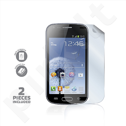 Celly Screen Protector for Galaxy Trend, Trend Plus and and Galaxy Duos, 2pcs, glossy