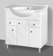 Apatinė pakabinama vonios spintelė Riva SA 80-4 su praustuvu Riva 80