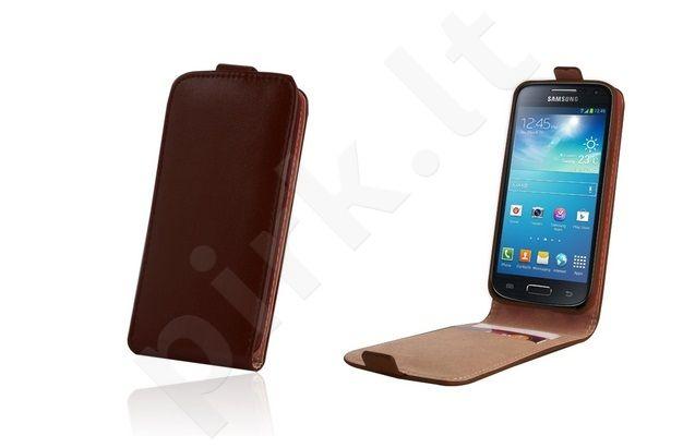 Samsung Galaxy Ace 4 dėklas PLUS Forever rudas
