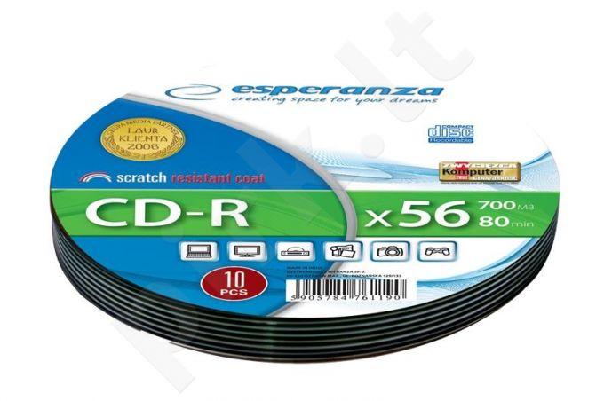 CD-R ESPERANZA [ Soft Pack 10 | 700MB | 52x | Silver ]
