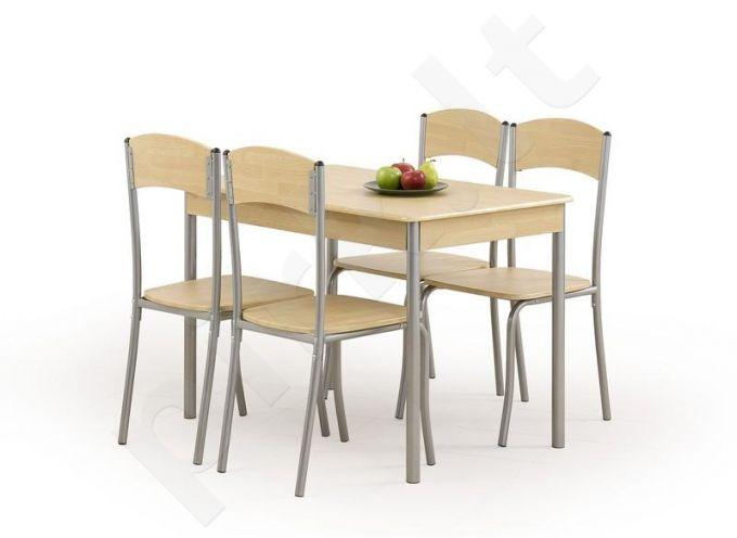 LONGIN komplektas: stalas + 4 kėdės
