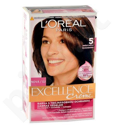 L´Oreal Paris Excellence Creme plaukų dažai, kosmetika moterims, 1vnt, (5 Natural Brown)