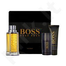 HUGO BOSS Boss The Scent, rinkinys tualetinis vanduo vyrams, (EDT 100ml + 50ml dušo želė + 75ml pieštukinis dezodorantas)