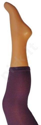 Vienspalvės tamsiai violetinės spalvos tamprės iš mikrofibros 40 denų storio (dydžiai nuo 68 iki 158 cm)