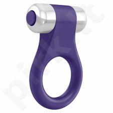 Vibruojantis penio žiedas OVO B1 - Purpurinis