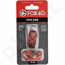 Švilpukas Fox40 EPIK CMG + virvutė raudonas  8803-0108