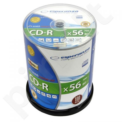 CD-R ESPERANZA [ Cake Box 100 | 700MB | 52x | Silver ]