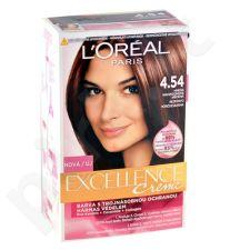 L´Oreal Paris Excellence Creme Hair Colour, kosmetika moterims, 1pc, (4,54 Natural Dark Copper Mahogany)