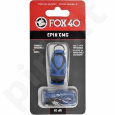 Švilpukas Fox40 EPIK CMG + virvutė mėlynas 8803-0508