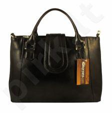 DAN-A T84 šokolado spalvos rankinė iš natūralios odos , moteriška