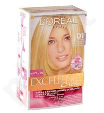 L´Oreal Paris Excellence Creme Hair Colour, kosmetika moterims, 1vnt, (01 Lightest Natural Blonde)