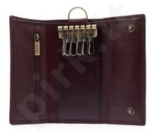 KRENIG Classic 12007 rudas odinis dėklas raktams