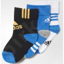 Kojinės Adidas Little Kids Ankle Socks Kids 3pak AO0239