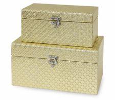 Dėžutės S/2 Mdf Gold