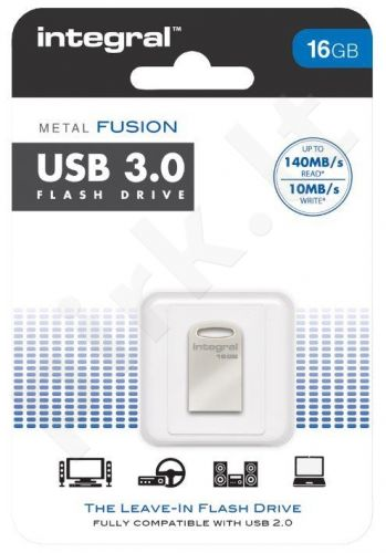 Atmintukas Integral USB metal Fusion 16GB