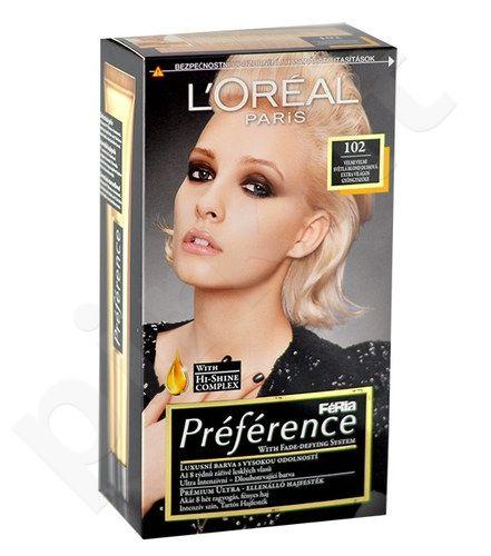L´Oreal Paris Préférence Féria Hair Colour, kosmetika moterims, 1vnt, (102 Iridescent Pearl Blonde)