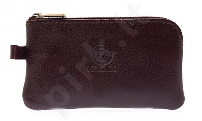 KRENIG Classic 12021 rudas odinis dėklas raktams
