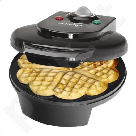 Bomann WA 5018 CB Waffle Maker, 1200 W,  Black