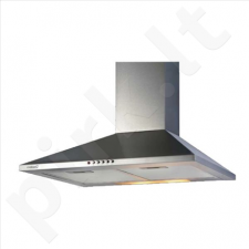 Cata V-600 INOX/B, Wall hood, ,,Chimney'' type, 620 kub.m ( IEC 420 kub.m/h), 2x40 W Lamps, Outflow: 150/125mm. INOX