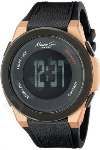 Laikrodis KENNETH COLE - KC CONNECT UNISEX BLUETOOTH DIGITAL IP ROSE GOLD SILICON /oda STRAP