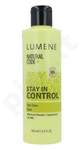 Lumene Natural Code Stay In Control Anti-Shine Toner, kosmetika moterims, 200ml