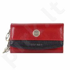 KRENIG Scarlet 13036 raudonas odinis dėklas raktams