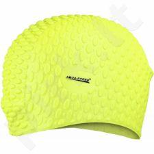 Maudymosi kepuraitė  Aqua-Speed silikonowy Bubble geltonas