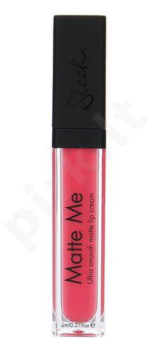 Sleek MakeUP Matte Me lūpų kremas, kosmetika moterims, 6ml, (432 Brink Pink)