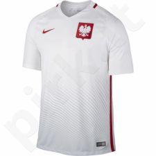 Marškinėliai futbolui Nike Polska Home Stadium M 724633-100