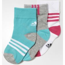 Kojinės Adidas Little Kids Ankle Socks Kids 3pak AO0238