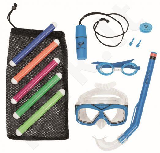 Nardymo rinkinys vaikams SHARKY: akiniai,kaukė,vamzd,aus. salotinė