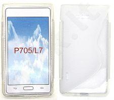LG L7 dėklas SILICON Forever baltas permatomas