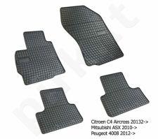 Guminiai  kilimėliai Peugeot 4008 2012-> /4pc, 0480