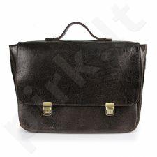 DAAG Jazzy Wanted 103  juoda rankinė iš natūralios odos unisex nešiojamam kompiuteriui       tamsiai ruda