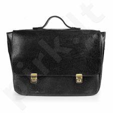 DAAG Jazzy Wanted 103  juoda rankinė iš natūralios odos unisex nešiojamam kompiuteriui