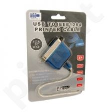 4World Adapteris USB 2.0 - LPT Centronics