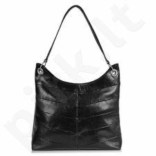 DAN-A T159  juoda rankinė iš natūralios odos , moteriška