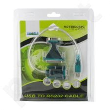 4World Adapteris USB 2.0 į RS 232 DB9M DB25M