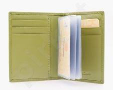 KRENIG Rainbow 14073 tamsiai žalio atspalvio odinis dėklas kortelėms