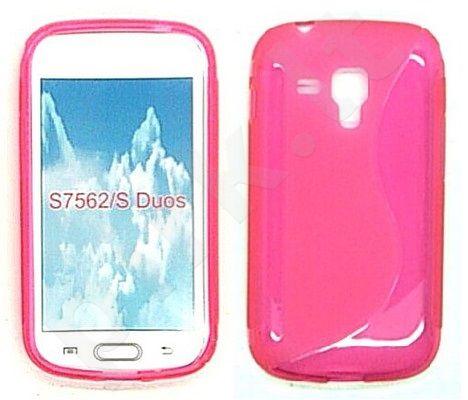 Samsung Galaxy Trend dėklas SILICON Forever rožinis