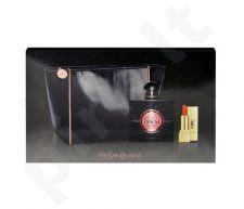 Yves Saint Laurent Black Opium rinkinys moterims, (EDP 50ml + 1,3ml lūpdažis Rouge Pur Couture 1 + kosmetikos krepšys)