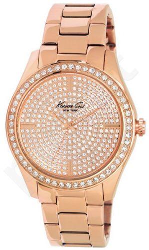 Laikrodis KENNETH COLE - ELEGANCE moteriškas S /S WITH STONES IP ROSE GOLD apyrankė