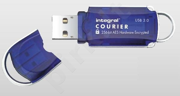 Atmintukas Integral Courier 16GB USB3.0 FIPS 197 AES 256-bit hardware encryption