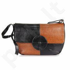DAN-A T121A rankinė iš natūralios odos , moteriška    juoda/