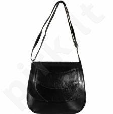 DAN-A T162 juoda rankinė iš natūralios odos , moteriška