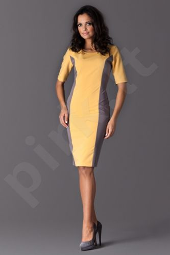 Suknelė M130 geltono atspalvio