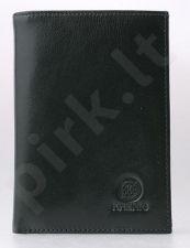 KRENIG Classic 12044 -  ekskliuzivinis juodas odinis dėklas dokumentams