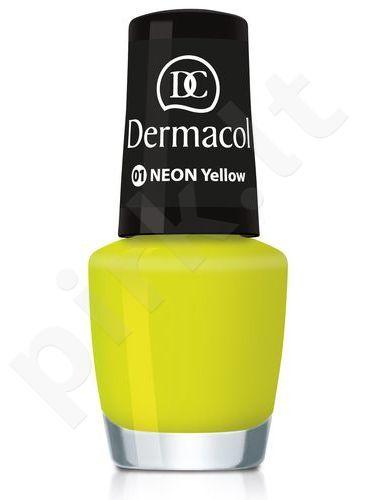 Dermacol Neon nagų lakas, kosmetika moterims, 5ml, (19 Bikini)