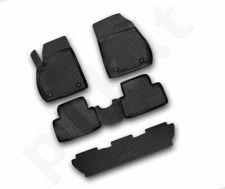 Guminiai kilimėliai 3D OPEL Zafira 2011->, 5 seats 5pcs. /L51027