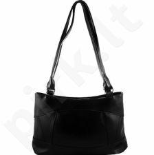 DAN-A T163 juoda rankinė iš natūralios odos , moteriška